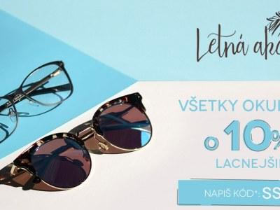Letna akcia - Všetky okuliare -10%