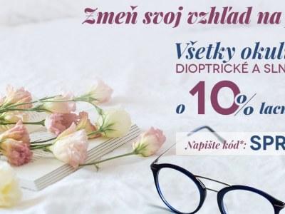 Všetky dioptrické a slnečné okuliare -10%
